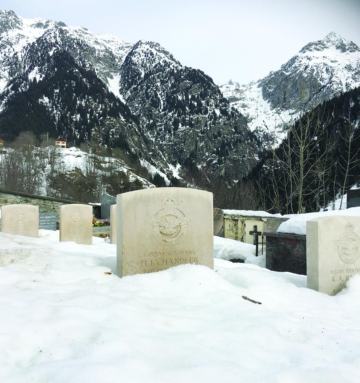 David's grandfather's Alpine grave