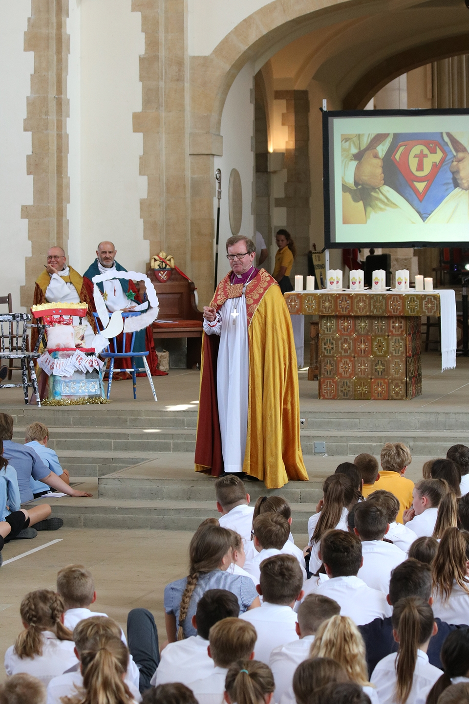 Bishop Christopher leads the Leavers Service