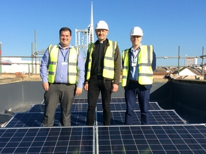 Portsmouth Cathedral installs new solar panels