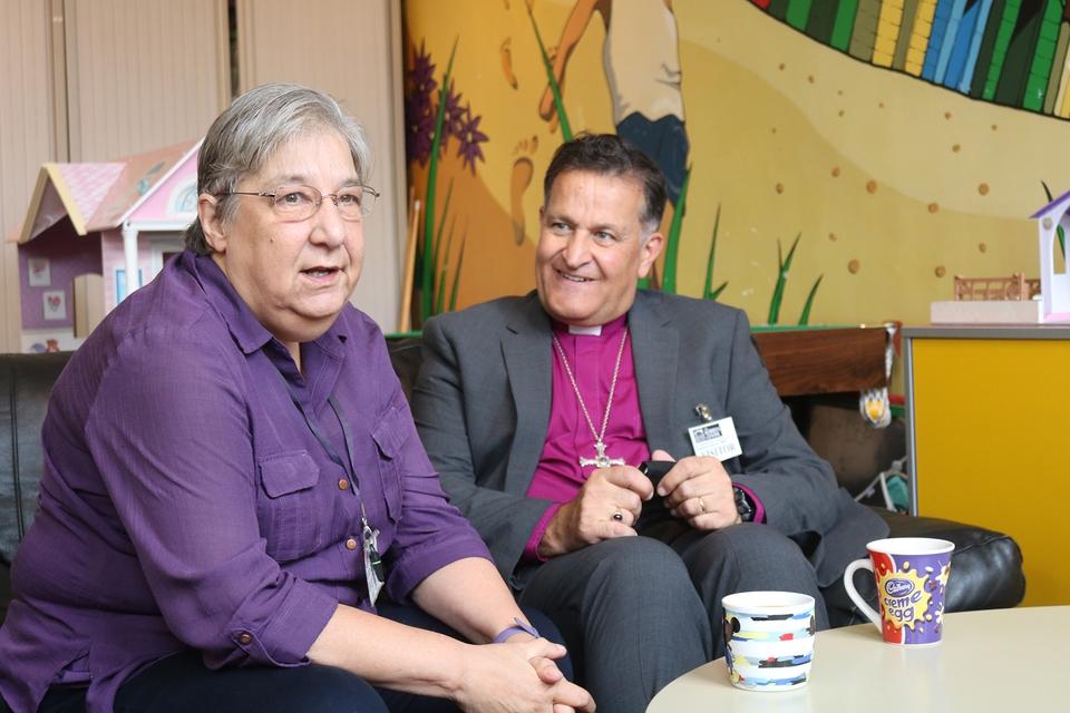 Bishop Jonathan visits the Roberts Centre