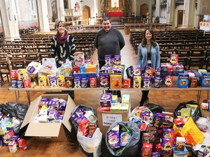 Generous worshippers donate hundreds of Easter eggs