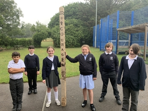 Peace Pole project draws together Year 6 pupils