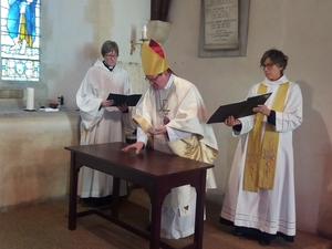 Consecration of altar at Langrish Church
