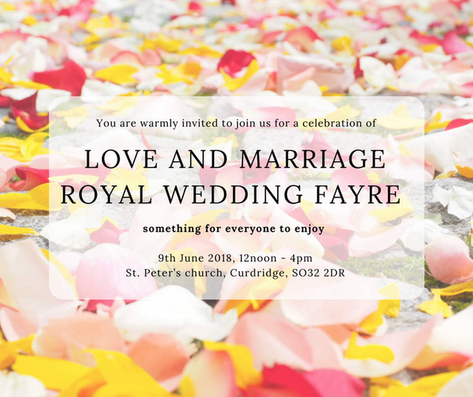 Royal Wedding Fayre - St. Peter's church, Curdridge