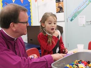 Bishop visits pioneering after-school Lego club