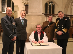 Diocese shows commitment to Armed Forces