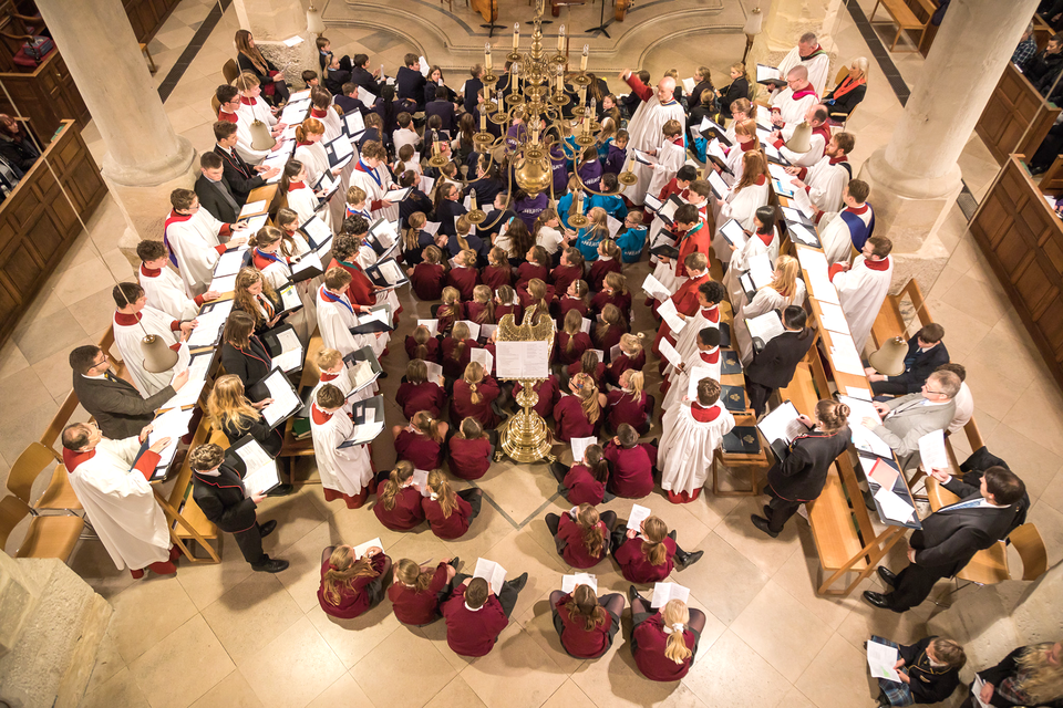 The choirs, together with the Cathedral Choir, sing at Evensong