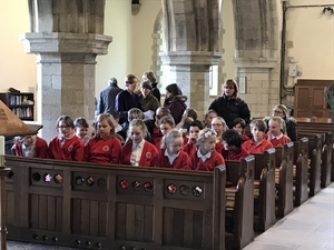 Pupils experienced Easter at village church