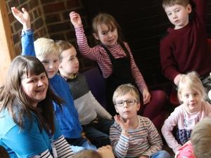 Children enjoy Sunday groups in church