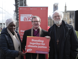 Bishop and former Archbishop pray for action on climate change