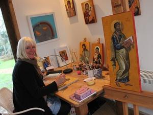 Icon painting exhibition