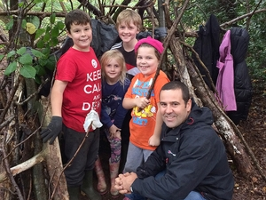 Parents and children bonded in Messy Great Outdoors