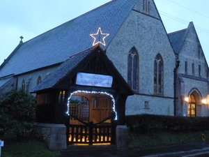 Illuminated stars light up church buildings for Christmas