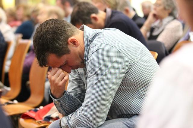 Prayer at St Jude's Church, Southsea