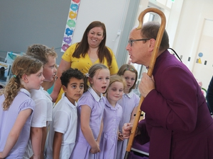 Emotional scenes as new building opens as church and school