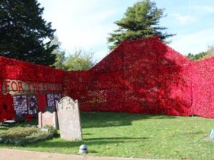 Poppy cascade dedicated at Hayling Island church