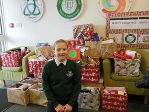 Schoolgirl inspires families to donate Christmas treats